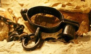 Slave trade shackles