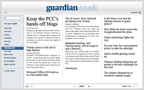 Open Platform: Guardian Reader