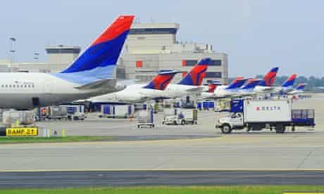 Planes at Hartsfield-Jackson Atlanta International airport in Atlanta, Georgia