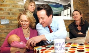 David Cameron meets mothers from the mumsnet website