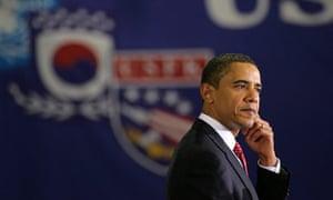 Barack Obama speaks at Osan air force base in South Korea