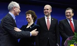 Herman Van Rompuy and Lady Ashton, EU council, Brussels