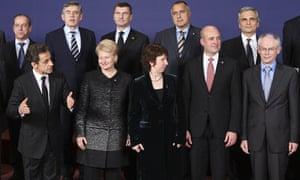 EU president Herman Van Rompuy and Lady Ashton