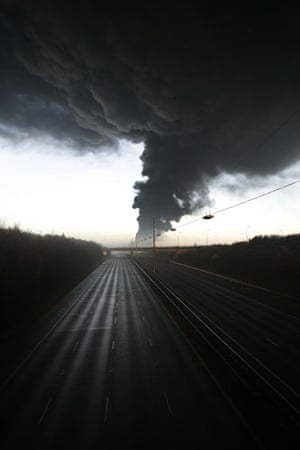 M1 motorway: 2005: The M1 motorway closes after an explosion at Buncefield Oil Terminal