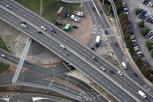 M1 motorway: The junction of the North Circular road in north London and the M1 motorway