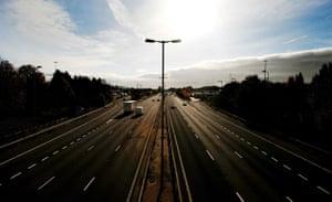 M1 motorway: 2009: Part of the M1 motorway near Watford, south of Junction 17