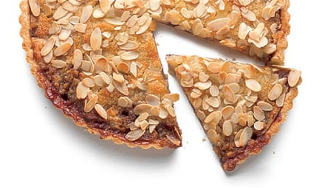 Apple berry almond tart