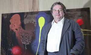 Will Alsop with one of his paitings