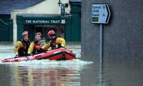 Flooding in Cumbria as bad weather sweeps across the UK