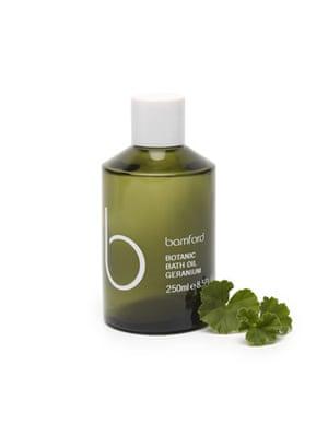 Beauty and grooming: Bamford bath oil geranium