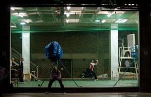 24sport: England's Matt Prior and Adil Rashid practice underground at the Wanderers