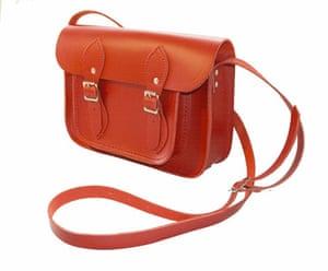 For men: Red satchel