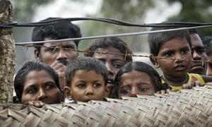 Tamil civilians at an internment camp in Vavuniya