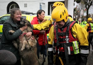 Cockermouth floods: Liz Fitton is reunited with her dog Molly rescued by an RSPCA rescue team