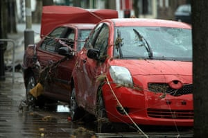 Cockermouth floods: Damage to parked cars is revealed as flood water recedes