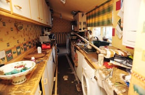 Cockermouth clear-up: The scene in Yvonne and Steve Lambert's kitchen after flood waters receded