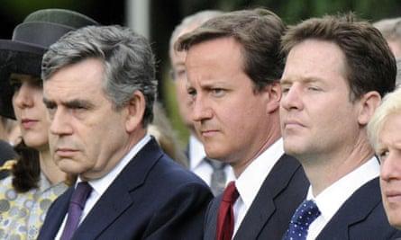 Gordon Brown, David Cameron and Nick Clegg