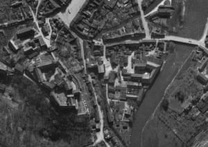 TARA aerial photography: Aerial photograph of Colditz Castle in Saxony Germany, on 10 April 1945