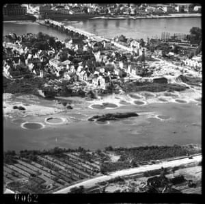 TARA aerial photography: Saumur, Maine-et-Loire, France in an oblique reconnaissance photograph