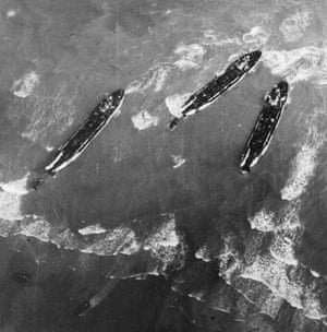 TARA aerial photography: Detail from a photograph taken on D-Day 1944 of the Allied invasion