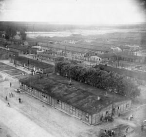TARA aerial photography: A Zwangsarbeiter, slave labour camp, at Gustavsburg Germany