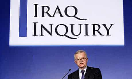 John Chilcot, the chairman of the Iraq war inquiry, at the Queen Elizabeth II conference centre
