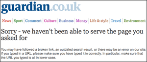 The Guardian's new error page