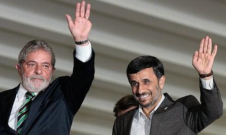 Luis Inácio Lula da Silva and Mahmoud Ahmadinejad in Brasilia