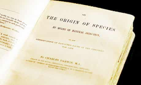 A first edition of The Origin of Species by Charles Darwin