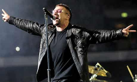 U2's Bono at Wembley stadium