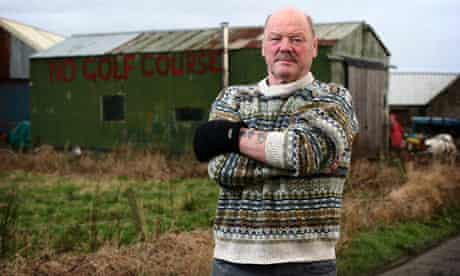 Michael Forbes pictured on his estate near Balmedie, Aberdeenshire, in 2007