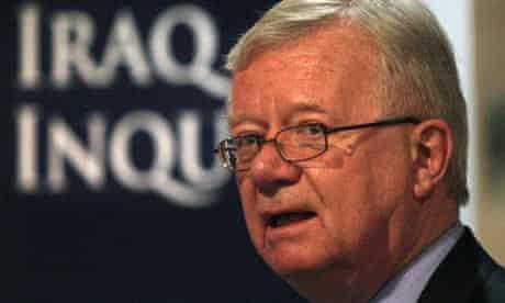 Sir John Chilcot, chair of the Iraq war inquiry