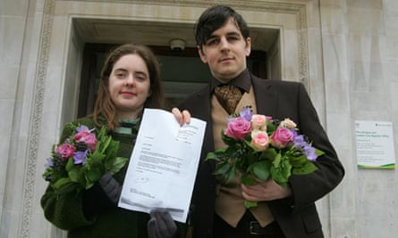 Tom Freeman and Katherine Doyle who are challenging the ban on opposite-sex civil partnerships.