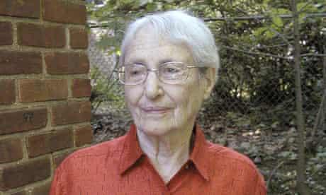 Margaret Lambert, formerly Gretel Bergmann, outside her home in New York.