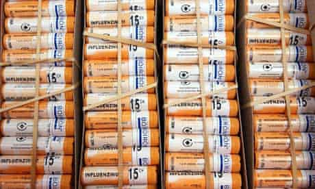Tubes of granules used in manufacture of a homeopathic remedy