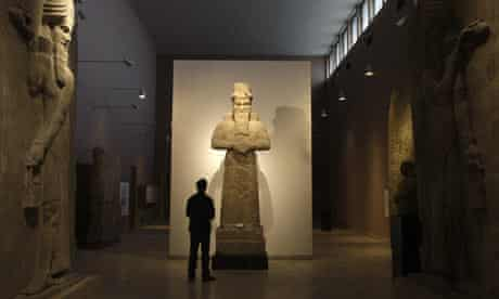 An Assyrian statue in Iraq's national museum