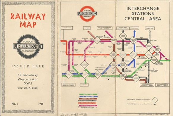 tunnel vision a history of the london tube map art and design the guardian