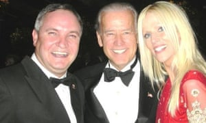 White House gatecrashers Tareq and Michaele Salahi with Vice President Joe Biden