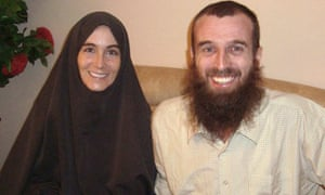 Freed hostage journalists Canadian Amanda Lindhout and Australian Nigel Brennan