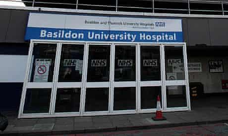 Basildon hospital, in Essex