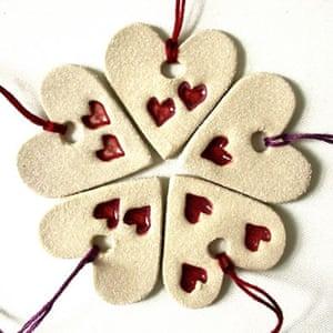 Decorations: Heart decorations