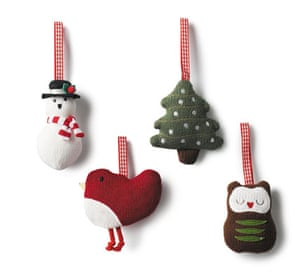 Decorations: Knitted christmas decorations