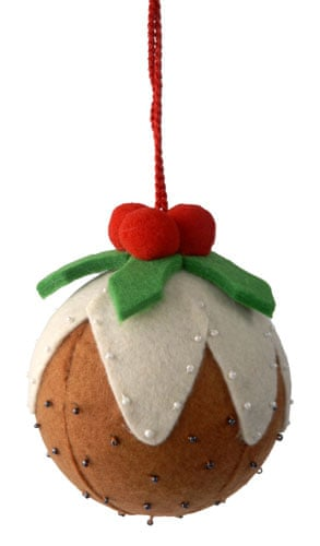 Decorations: Felt christmas pud