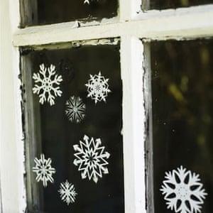 Decorations: Snowflake stickers