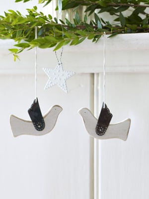 Decorations: Doves and star