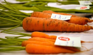 Prize carrots at a village fete