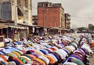 Eid al-Adha: IVORYCOAST-RELIGION-ISLAM-EID-PRAYERS