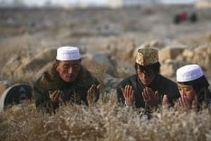 Eid al-Adha: Muslims pray during Eid al-Adha celebrations in Wuzhong,