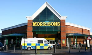 The Morrisons supermarket in Canterbury where police officers shot an armed man