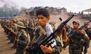 Contra troops training in Honduras
